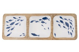 Enameled fish tray
