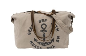 Beige Travel Bag