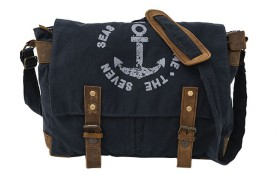 Blue Messenger Bag