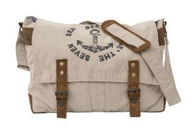 Beige Messenger Bag