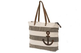Striped Khaki Bag