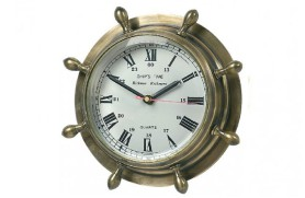 Rudder brass clock