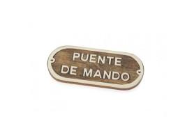 """""""Puente de Mando"""" Plate"""