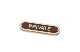 """""""PRIVATE"""" Plate"""