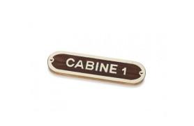 """CABINE 1"" Plate"