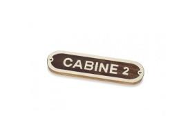 """CABINE 2"" Plate"