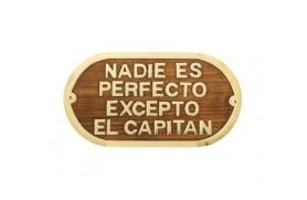 """""""NADIE ES PERFECTO..."""" Plate"""