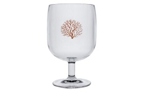 Set 6 Glass of wine Coral