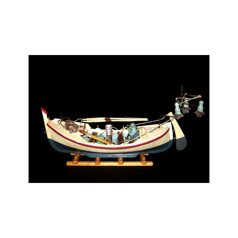 boot nacht fischerboot reproduktion fischerboot maritimes geschenk nautischen dekor. Black Bedroom Furniture Sets. Home Design Ideas