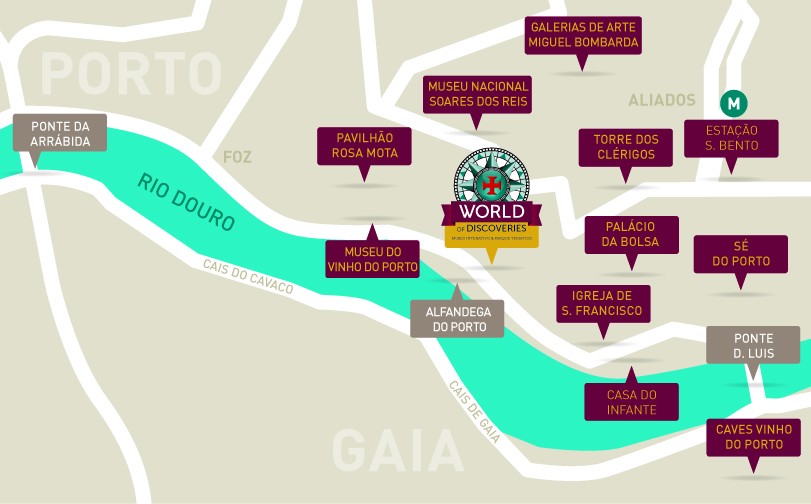 Mapa World of Discoveries