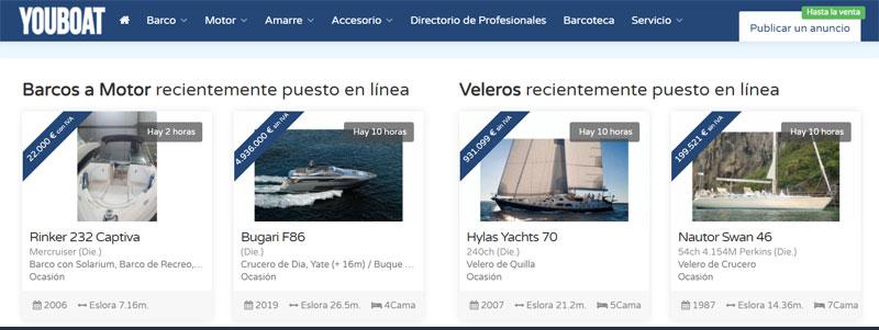 Barcos de ocasión en Youboat España