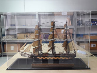 Maqueta fragata s.XVIII